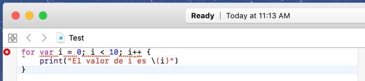 Xcode 8 mostrando error con for estilo C