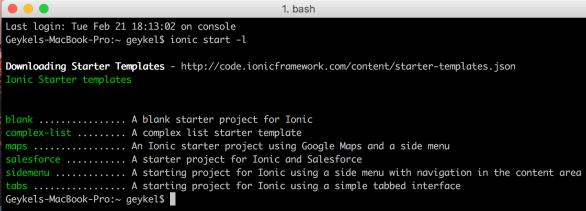 ionic-start-templates