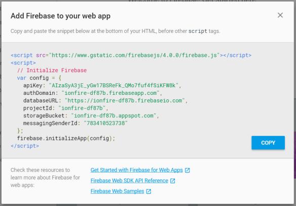 Configuración para una aplicación web